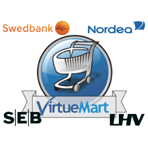 LHV, Swedbank, Nordea ja SEB maksemoodul VirtueMartile